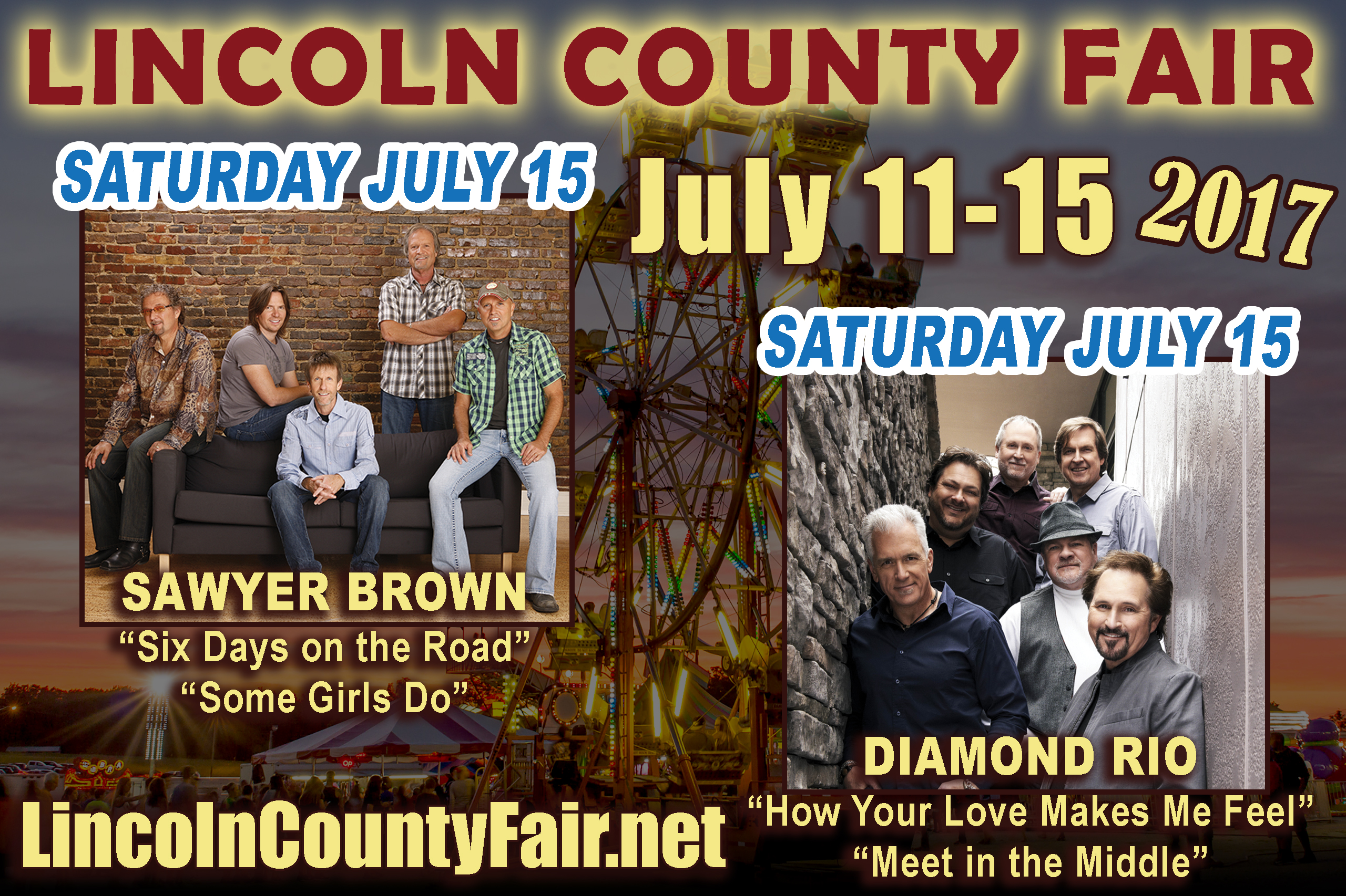 Welcome Diamond Rio & Sawyer Brown!